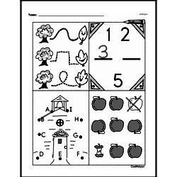 Kindergarten Math Challenges Worksheets - Puzzles and Brain Teasers Worksheet #58