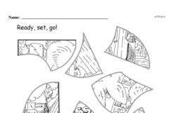 Kindergarten Math Challenges Worksheets - Puzzles and Brain Teasers Worksheet #73