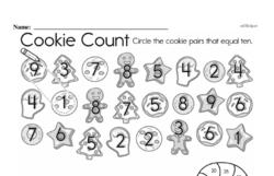 Kindergarten Math Challenges Worksheets - Puzzles and Brain Teasers Worksheet #17