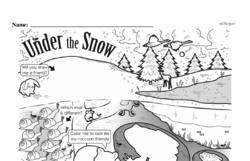Kindergarten Math Challenges Worksheets - Puzzles and Brain Teasers Worksheet #74