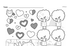 Kindergarten Math Challenges Worksheets - Puzzles and Brain Teasers Worksheet #14