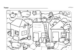 Kindergarten Math Challenges Worksheets - Puzzles and Brain Teasers Worksheet #32