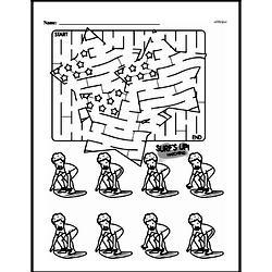 Kindergarten Math Challenges Worksheets - Puzzles and Brain Teasers Worksheet #70