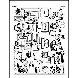 Kindergarten Math Challenges Worksheets - Puzzles and Brain Teasers Worksheet #90