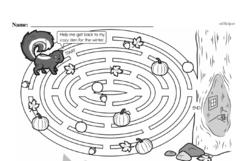Kindergarten Math Challenges Worksheets - Puzzles and Brain Teasers Worksheet #85
