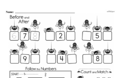 Kindergarten Math Challenges Worksheets - Puzzles and Brain Teasers Worksheet #1
