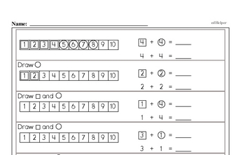 Math Facts Practice Mixed Math PDF Workbook for Kindergarten