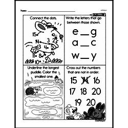 Free 1.MD.A.1 Common Core PDF Math Worksheets Worksheet #31