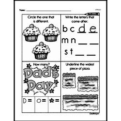 Free 1.MD.A.1 Common Core PDF Math Worksheets Worksheet #25