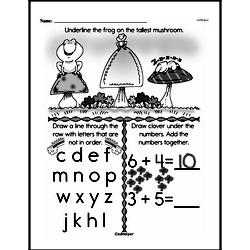 Free 1.MD.A.1 Common Core PDF Math Worksheets Worksheet #24