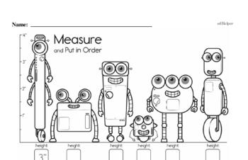 Measurement Mixed Math PDF Workbook for Kindergarten