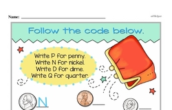 Money Worksheets - Free Printable Math PDFs Worksheet #41