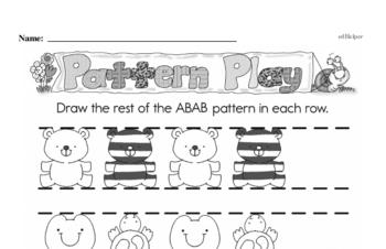 Pattern Worksheets - Free Printable Math PDFs Worksheet #1