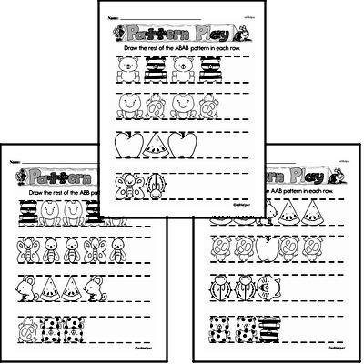 Pattern Worksheets - Free Printable Math PDFs Worksheet #3