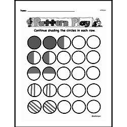 Pattern Worksheets - Free Printable Math PDFs Worksheet #40