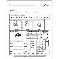 Pattern Worksheets - Free Printable Math PDFs Worksheet #184