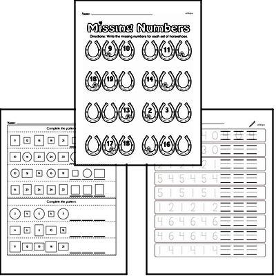 Patterns Mixed Math PDF Workbook for Kindergarten