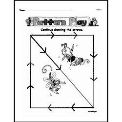 Free Kindergarten Prewriting PDF Worksheets Worksheet #4