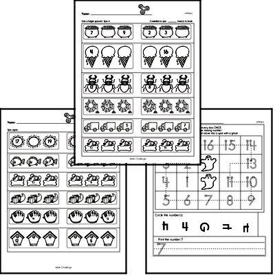 Free Kindergarten Prewriting PDF Worksheets Worksheet #1