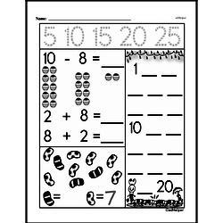 Kindergarten Subtraction Worksheets Worksheet #19