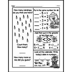 Kindergarten Subtraction Worksheets Worksheet #26