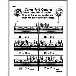 Kindergarten Subtraction Worksheets Worksheet #50