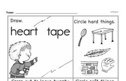 Kindergarten Subtraction Worksheets Worksheet #48