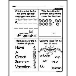 Kindergarten Subtraction Worksheets Worksheet #40