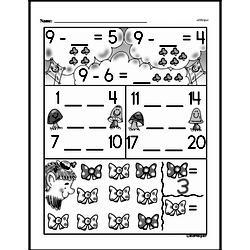 Kindergarten Subtraction Worksheets Worksheet #15