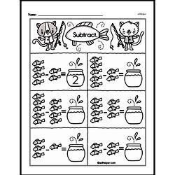 Kindergarten Subtraction Worksheets Worksheet #9