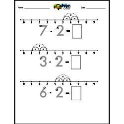 Subtracting 2