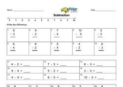 Subtracting 2-5.