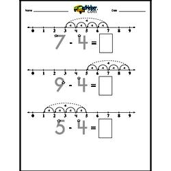 Subtracting 4