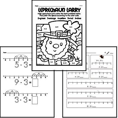 Subtraction Workbook (all teacher worksheets - large PDF)