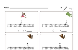 Subtraction of One (Up to 20)
