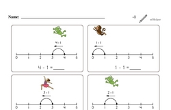 Subtraction of One (Up to 5)