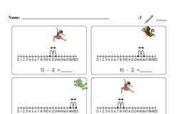 Subtraction of Two (Up to 20)