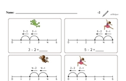 Subtraction of Two (Up to 5)