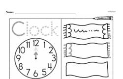 Kindergarten Time Worksheets Worksheet #19