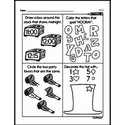 Kindergarten Time Worksheets Worksheet #17
