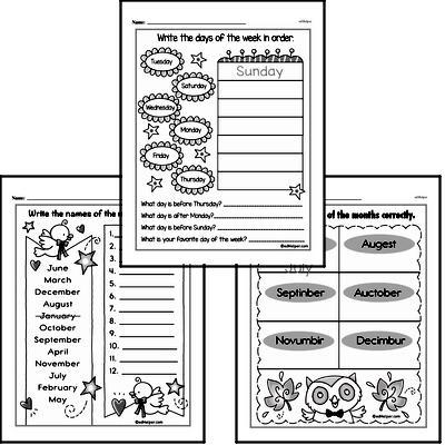 Kindergarten Time Worksheets Worksheet #1