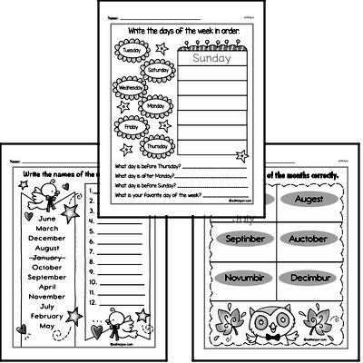 Kindergarten Time Worksheets Worksheet #2