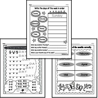 Kindergarten Time Worksheets Worksheet #5