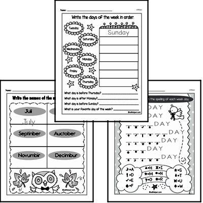 Kindergarten Time Worksheets Worksheet #6