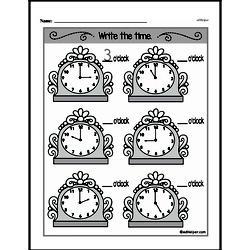 Kindergarten Time Worksheets Worksheet #7