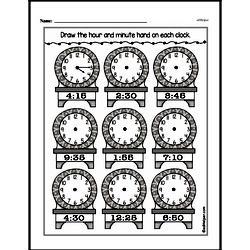 Kindergarten Time Worksheets Worksheet #12