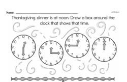 Kindergarten Time Worksheets Worksheet #15