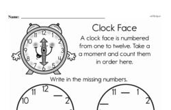 Kindergarten Time Worksheets Worksheet #20