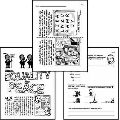 Martin Luther King, Jr. Day Worksheets EdHelper.com