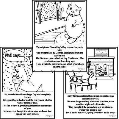 Groundhog Day Reading Comprehension Workbook with Math Worksheets